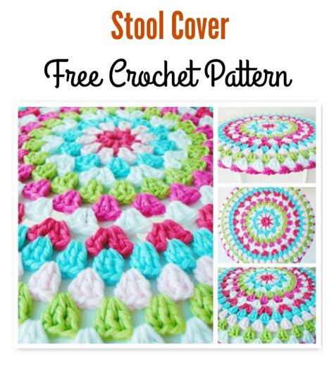 Bar Stool Cover Pattern by Best 25 Stool Cover Crochet Ideas On Stool