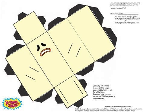 Free Papercraft Templates To - gooble paper free printable papercraft templates