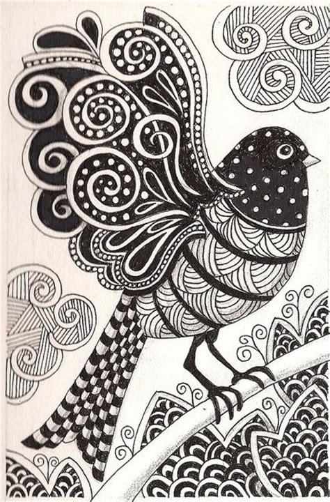 pattern drawing bird paloma dibujos para colorear pinterest doodles