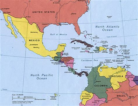 america map jamaica map of central america and the caribbean