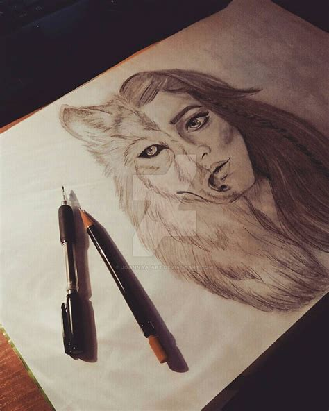 half half wolf half half wolf drawing www pixshark images galleries with a bite