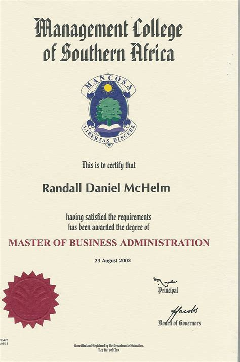 Mba Colleges In South Africa by Randall Mc Helm Bayt