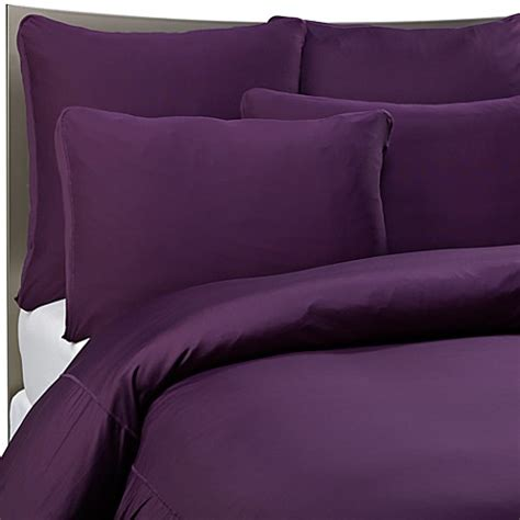 sheex bed sheets sheex 174 performance bedding duvet cover set in plum www