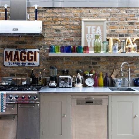 Rustic Modern Kitchen Ideas modern rustic kitchen kitchen idea exposed brick wall image