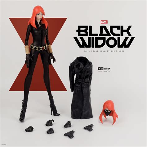 figure 3a 3a marvel comics black widow 1 6 scale figure the toyark