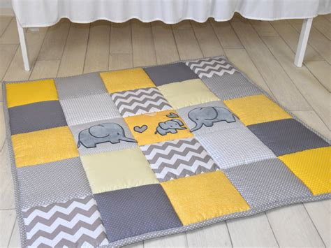 Floor Mat For Babies To Play On by Gray Elephant Playmat Yellow Play Mat Floor Crawl