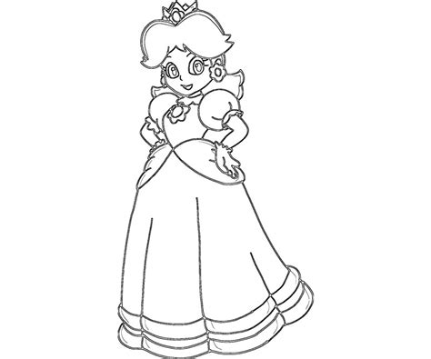 free coloring pages of daisy on mario
