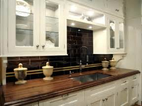 Black Backsplash In Kitchen Kitchen Simple Design Of Wooden Countertops Kitchen With