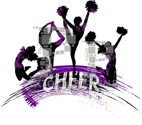 cheerleading clipart 4 logo line eps file vector and jpeg