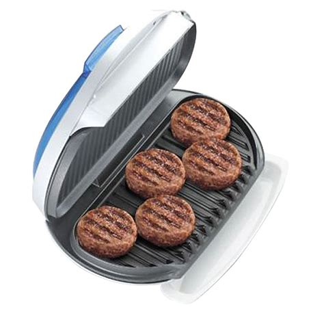 Best Countertop Grill For Steaks by George Foreman Gr15bwi Family Sized Grill With Indigo Bun