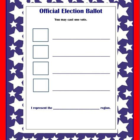 Election Ballot Template Images Template Design Ideas Election Ballot Template