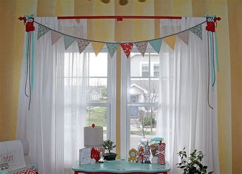 Ikea Nursery Curtains Vintage Circus Nursery Window Treatment Ikea Curtains And Sheers Bunting Banner From Etsy