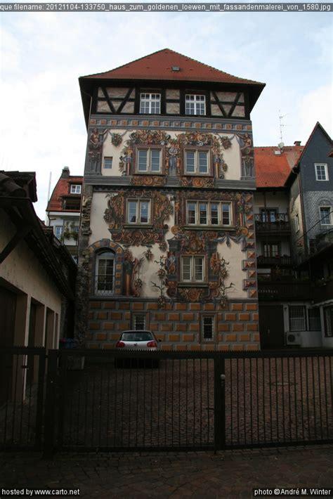 haus der sünden haus zum goldenen l 246 wen mit fassandenmalerei 1580