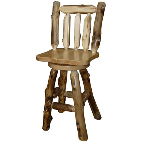 rustic bar stools swivel aspen bar stool
