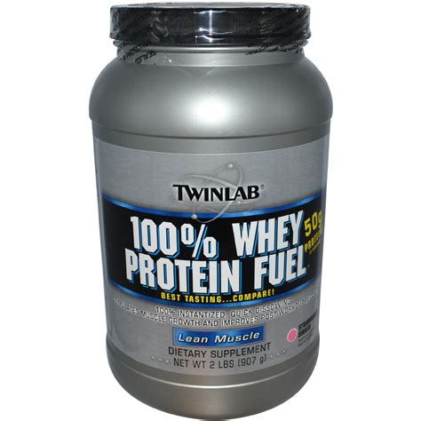 Whey Protein 2lbs Twinlab 100 Whey Protein Fuel Lean Strawberry