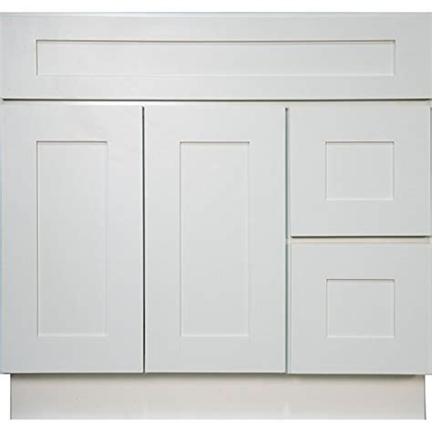 white shaker kitchen cabinets with soft close doors everyday cabinets swhvsd3621dl bathroom vanity single sink
