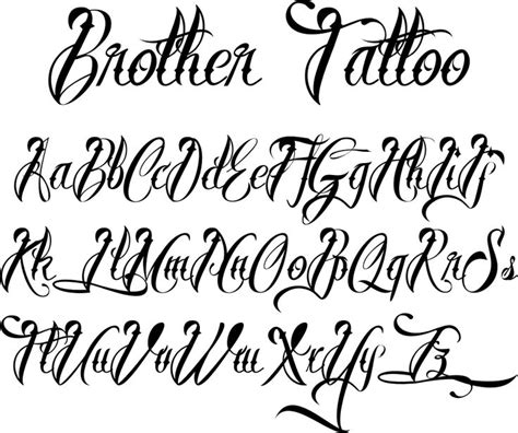 tattoo alphabet different handwriting styles fonts for tattoos brother tattoofont by m 229 ns greb 228 ck