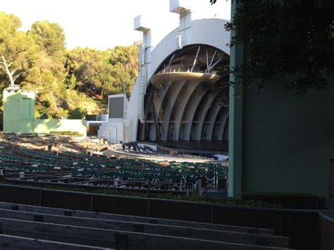 section d section e and the obstructed view hollywood bowl