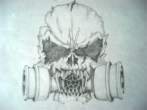 scary skull drawings evil skulls drawings bucket pic 14