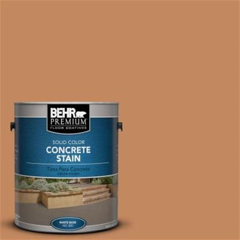 behr premium 1 gal pfc 17 orange solid color concrete stain 83001 the home depot