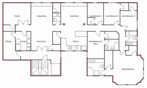 sketch floor plan create simple floor plan simple house drawing plan basic