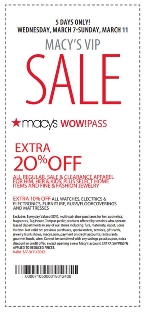 macy s coupon march 2012