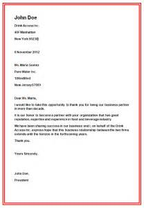 Business Letters Kinds And Examples Business Letter Formats