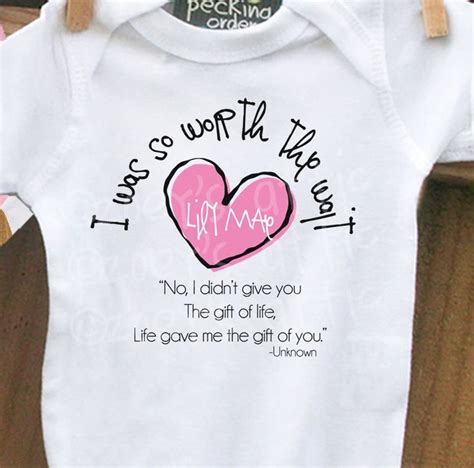 quotable baby shirts quotes worth the wait onesie adoption quotes quotesgram