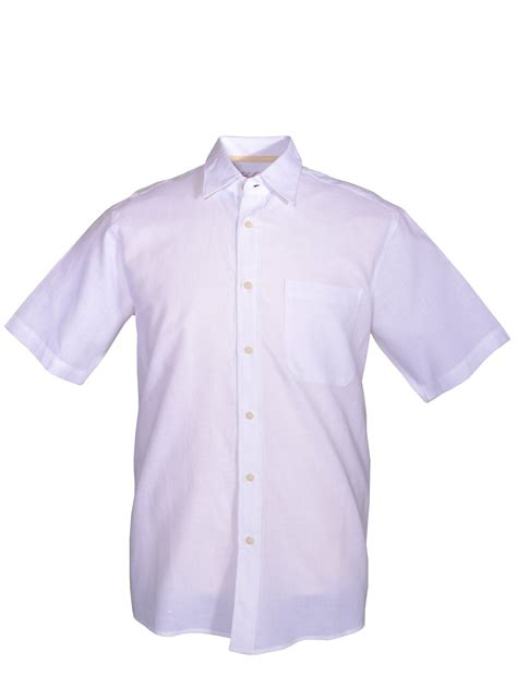 two bar harbour casual plain shirt in white for lyst