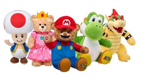 cuddly nintendo characters join  build  bear workshop