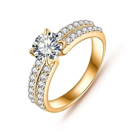 new arrival engagement rings real platinum plated micro