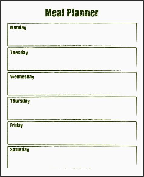 meal plan template word 2 10 weekly meal planner exle sletemplatess sletemplatess