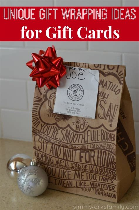 Clever Gift Card Ideas - unique gift wrapping ideas for gift cards simmworks family blog