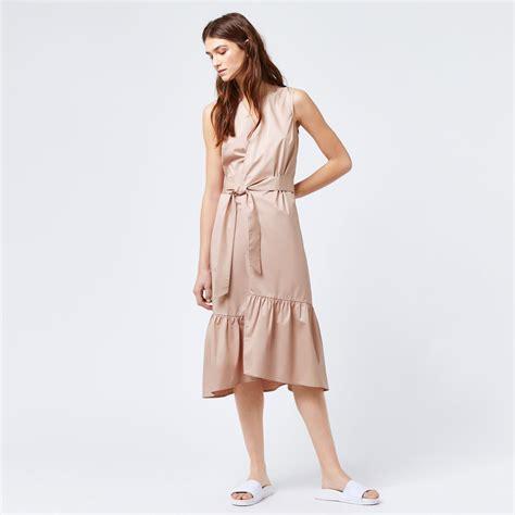Sale Dress 2 Dan 3 Th peplum hem wrap dress warehouse
