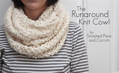 knitting pattern infinity scarf straight needles runaround knit cowl free pattern done on straight