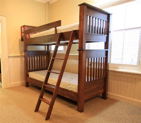 Bunk Beds Ontario Wormy Maple Cottage Single Single Bunk Bed Lloyd S Mennonite Furniture Gallery Solid Wood
