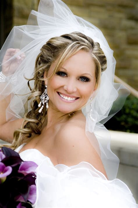 Side Wedding Hair With Veil by Project Wedding Photos Project Wedding