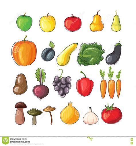 clipart frutta frutta e verdure di autunno illustrazione piana di vettore