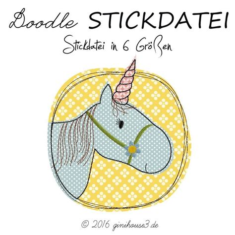 embroidery design 10x10 stickdatei doodle einhorn ab 10x10 art ideas