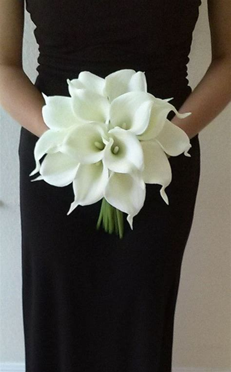 Real Bridal Bouquets by White Calla Bridal Bouquet With Calla
