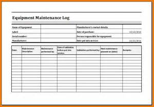 maintenance log template doc 810560 maintenance log template equipment