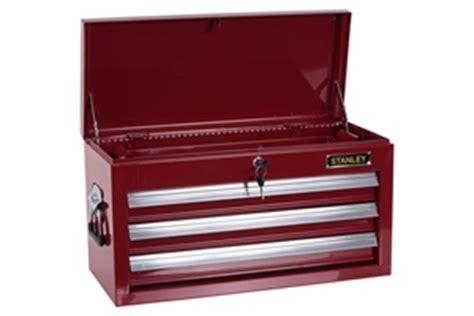 stanley 3 drawer tool chest stanley 3 drawer red tool chest auction 0185 2153345
