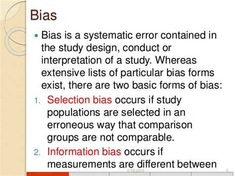 design bias meaning designs of clinical trials
