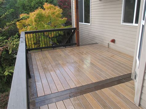 St Tiger Mocha timbertech decking pvc patio terrain collection in silver