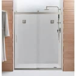 kohler bypass shower door kohler levity 60 1 4 in x 74 in frameless sliding shower