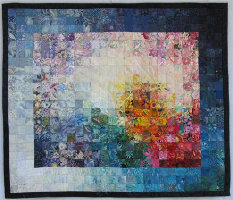 Watercolor Quilts by Using The Other Side Of Fabrics Occasionalpiece Quilt