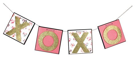 xoxo printable banner xoxo tile banner crafts direct