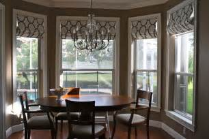 Dining Room Bay Window Treatments Custom Window Coverings And Baby Bedding Andrea Lynn