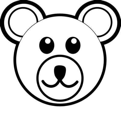 teddy bear face coloring page free gianfreda net animal