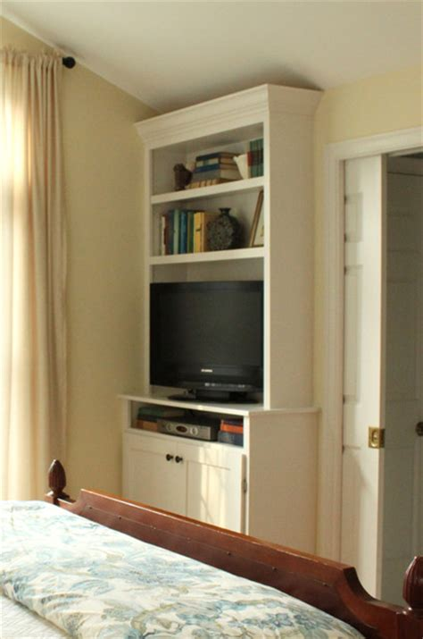 master bedroom built in cabinets built in bookshelves in our master bedroom tv with